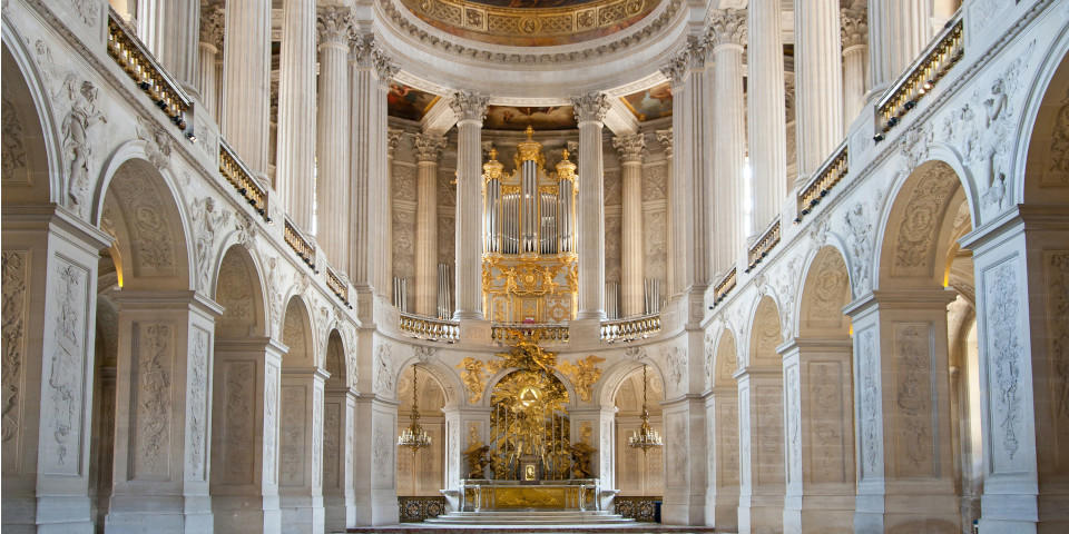 Great Ballroom in the inside of the Palace of Versailles in Paris