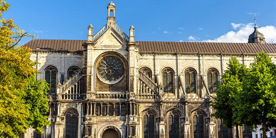 Saint Catherine Church in Brussels, the art ensemble inside is well worth a visit