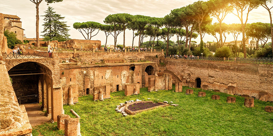 State of Domitian on the Palatine Hill in Rome