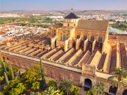 Aerial view of the Mosque of Cordoba