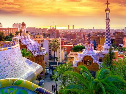 Vista de Barcelona desde el Parque Güel