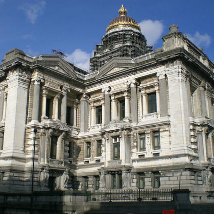The Palace of Justice in Brussels